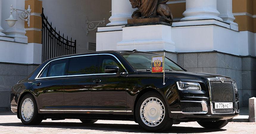 Putin stiže u luksuznoj limuzini