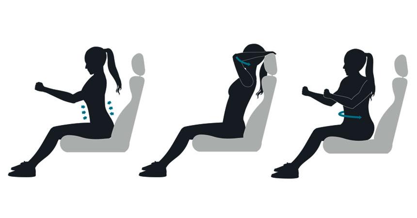5 vežbi za mišiće tokom vožnje kombijem sa vozačem